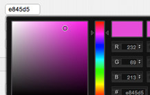 With the live color picker, you don't need to know any HTML hex color codes.