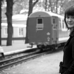 woman at the station