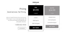 pricing tables 2 columns
