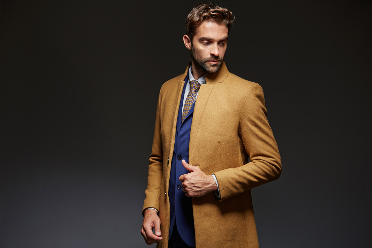 Men's Brown Long Coat