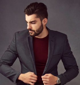 Men's Dark Grey Suit