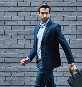 Dark Blue Office Suit