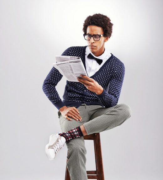 men-with-sunglass-and-polka-dots-shirt
