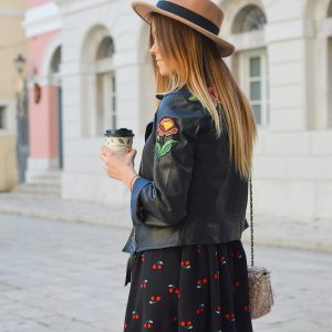 Flower Bomb Leather Jacket