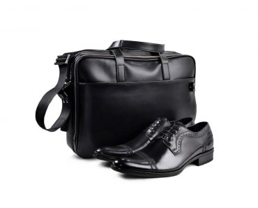 Black Shoes and Bag Set