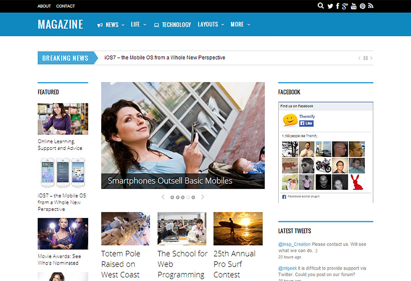 Magazine Themify Theme Free Download