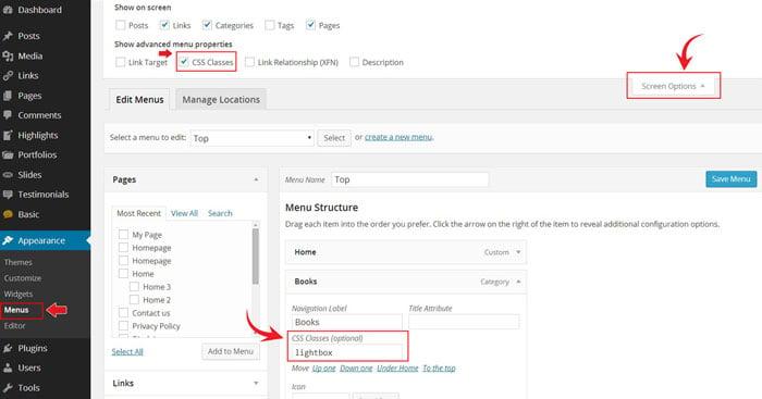 how to create a custom menu widget in wordpress