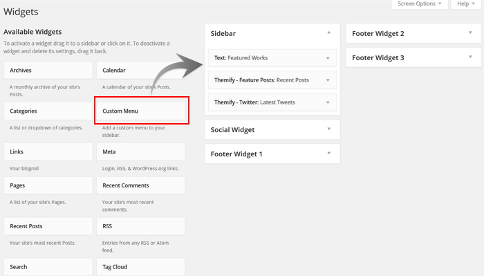 how to add a custom menu on your sidebar