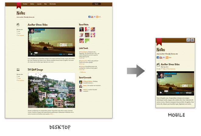 Notes: New Responsive Tumblr-Like Theme • Themify