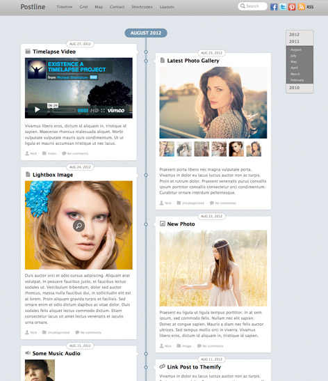 Post format responsive Wordpress theme