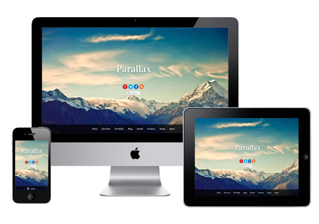 Cool Responsive Parallax Scrolling Theme