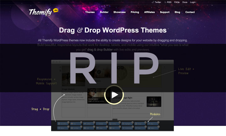 Old Themify theme retired
