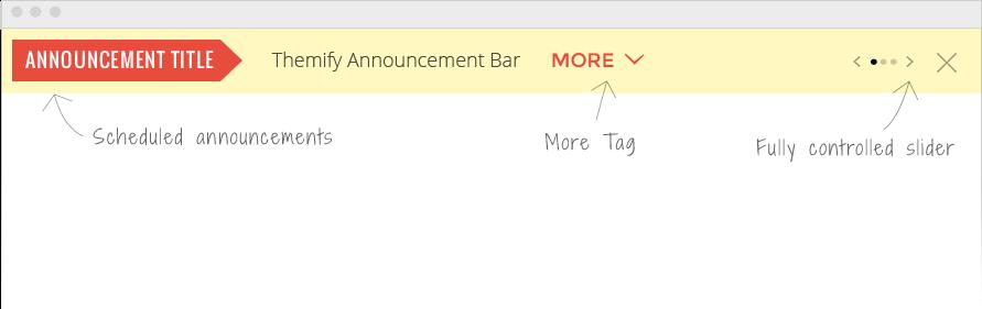 Announcement Bar image
