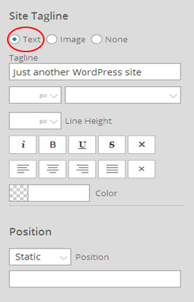 How to add a tagline on your site