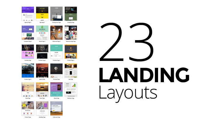 WordPress theme Extended Landing Page Layouts