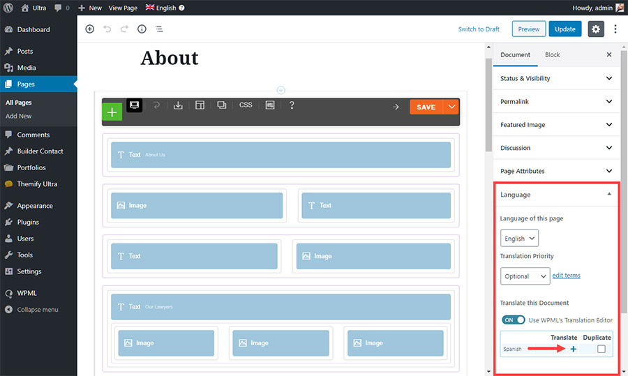 About Page Editor