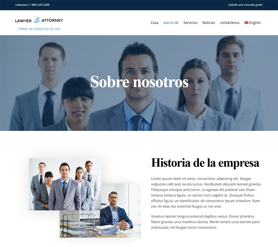 Lawyer Page Layout