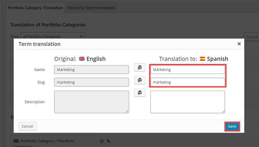 Term Translation