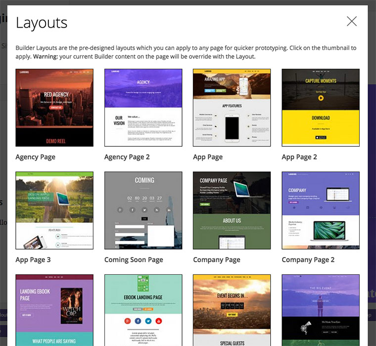 WordPress theme Ultra and Landing Layouts Now Added in the Builder!