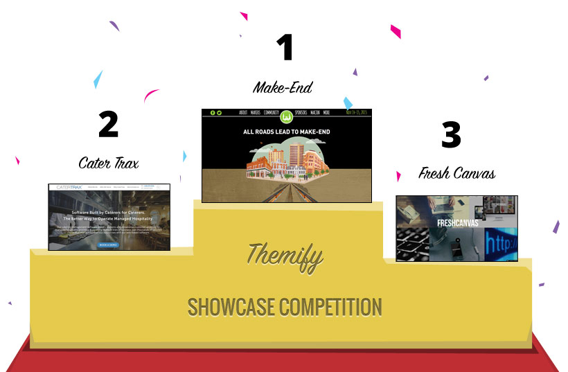 WordPress theme 2015 Themify Showcase Site Competition Winners!