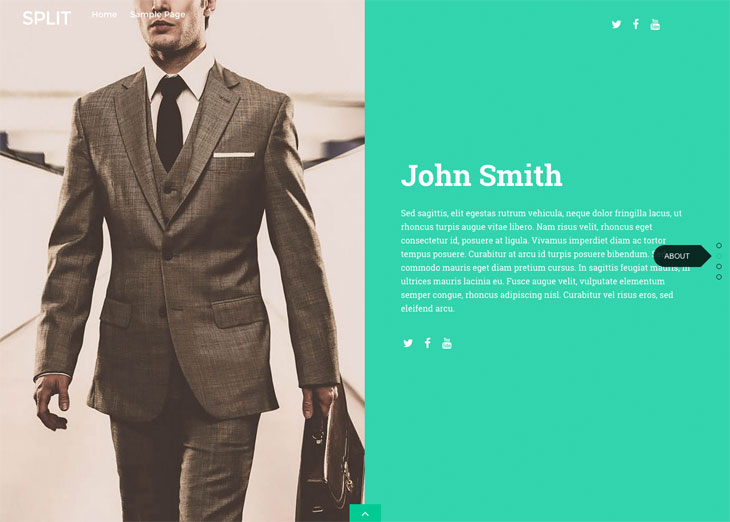 WordPress theme Sneak Peak: New Split Theme