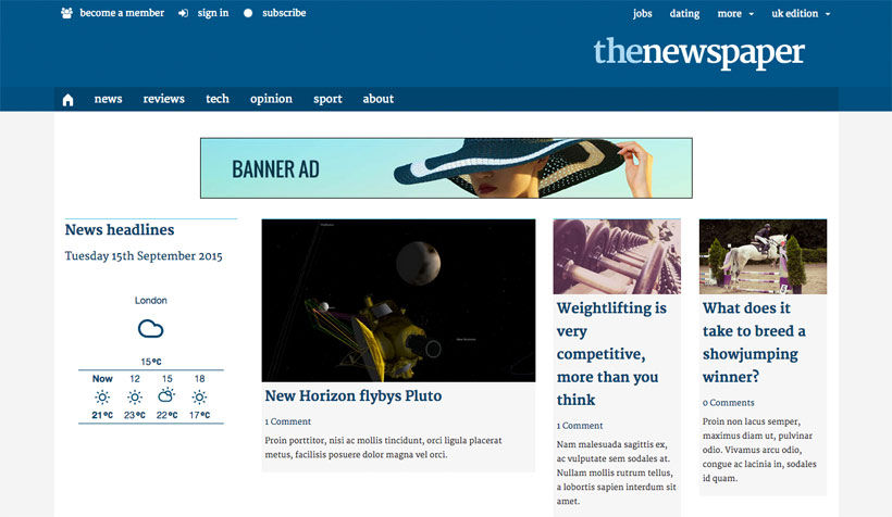Tutorial Replicating The Guardian Site Design With Themify Flow