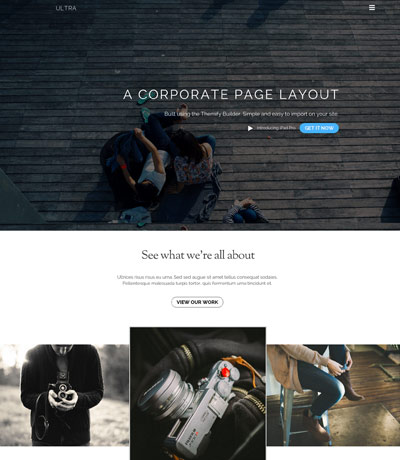 WordPress theme Ultra Update: New Header Design + 5 Builder Layouts