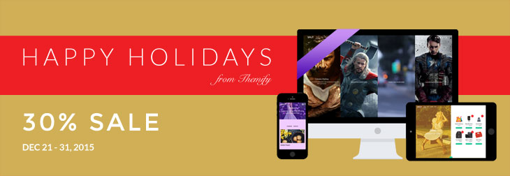 WordPress theme Big Holiday Sale