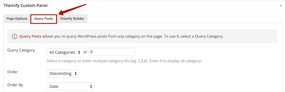 how to query post on a page