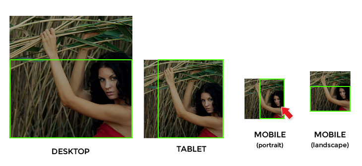 a fixed example of how images varies in different devices
