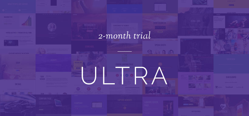 WordPress theme Free 2 Month Trial: 15 New Builder Layouts with the Ultra Theme