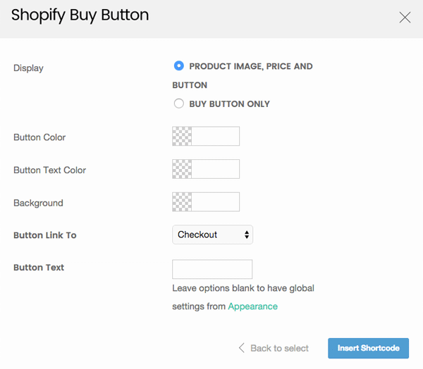 styling options for the buy button