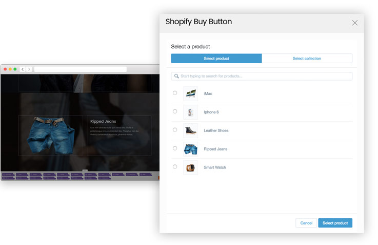 Shopify Buy Button plugin