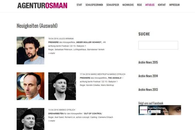 Aktuelles – Agentur Osman Screenshot