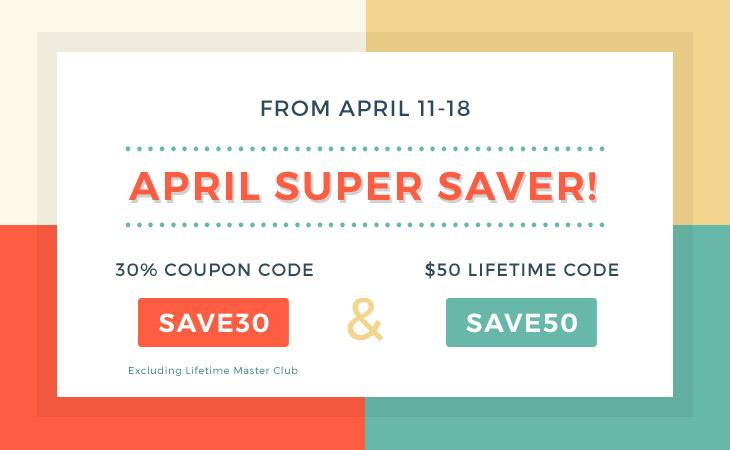 WordPress theme Save Big with the April Super Saver!