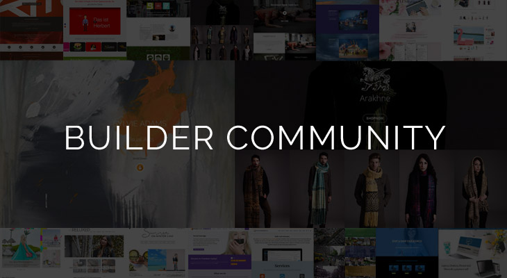 Builder Community Layouts page