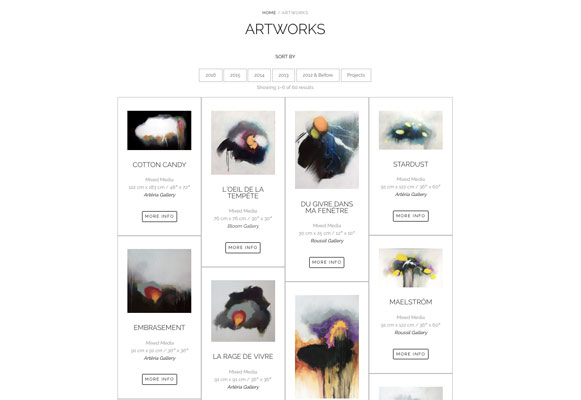 Sylvie Adams artworks page