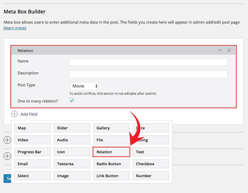 PTB Relation Addon module meta box image preview
