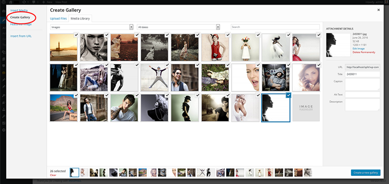 create gallery screenshot
