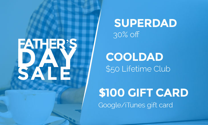 Father's Day Sale/Giveaway: Win a $100 Gift Card + Master Club