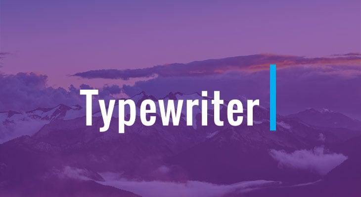 blog post image of the Typewriter Addon