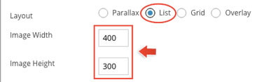 Infinite Post list option panel