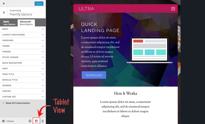 responsive styling mobile preview