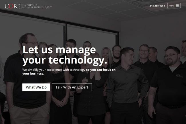 CORE Business Service Screenshot