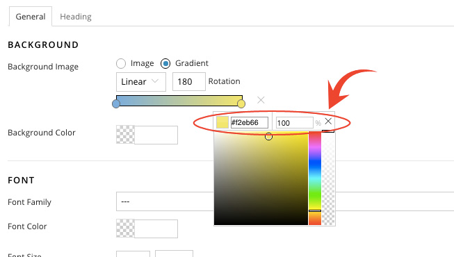 Custom Gradient Color Input and Position