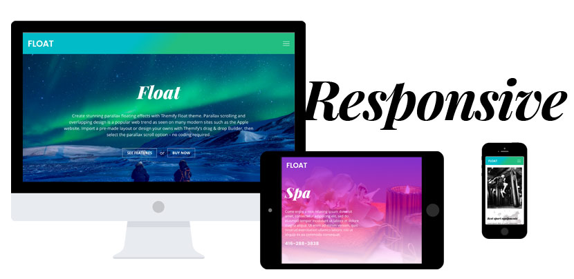 Float themes responsive design across all platforms