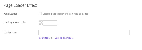 Split page loader effect options
