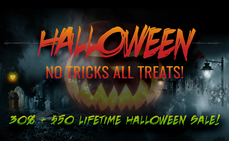 WordPress theme No Tricks All Treats Halloween Sale!