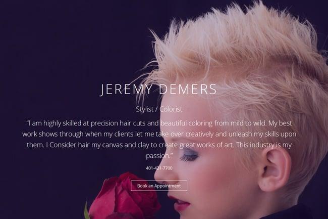 J Demers Hair screenshot