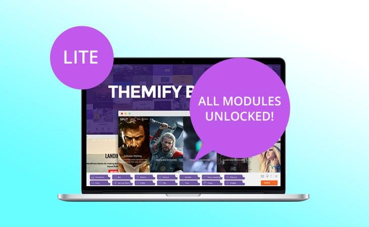 WordPress theme Themify Builder Lite Update – All Modules Unlocked!